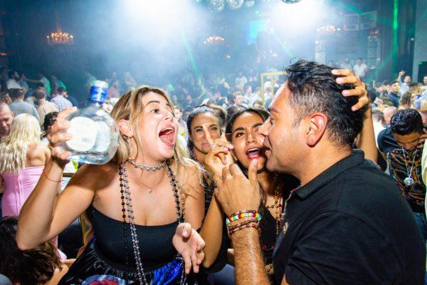 People drinking and having fun